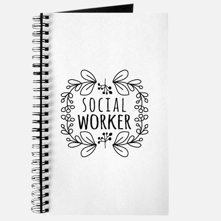 Hand-Drawn Wreath Social Worker Journal