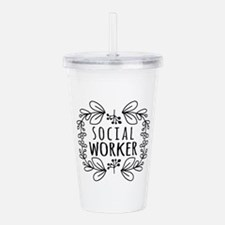 Hand-Drawn Wreath Soci Acrylic Double-wall Tumbler