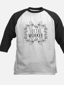 Hand-Drawn Wreath Social Work Tee