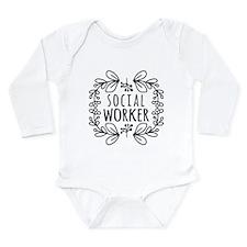 Hand-Drawn Wreath Soci Long Sleeve Infant Bodysuit