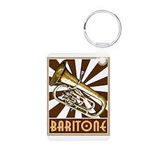 Retro Baritone Aluminum Photo Keychain