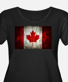 Canadian Flag Plus Size T-Shirt