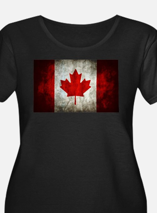 Canada flag women 39 s plus size clothing plus size shirts for Made in canada dress shirts