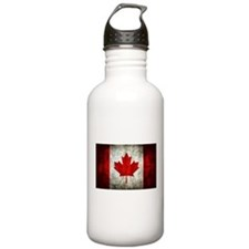 Canadian Flag Sports Water Bottle