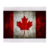Canadian flag Fleece Blankets