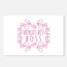 Cute Pink World's Best Bo Postcards (Package of 8)