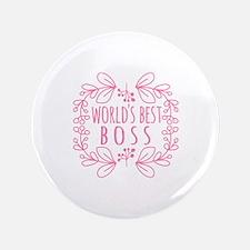 Cute Pink World's Best Boss Button