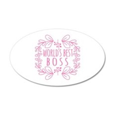 Cute Pink World's Best Boss Wall Sticker