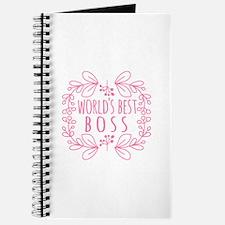 Cute Pink World's Best Boss Journal