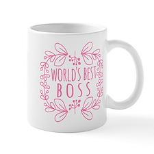 Cute Pink World's Best Boss Small Mug