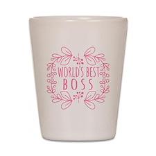 Cute Pink World's Best Boss Shot Glass