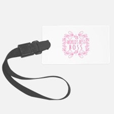 Cute Pink World's Best Boss Luggage Tag