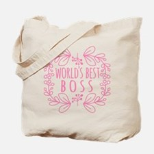 Cute Pink World's Best Boss Tote Bag