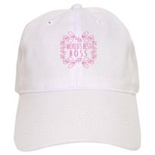 Cute Pink World's Best Boss Cap