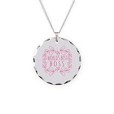 Cute Pink World's Best Boss Necklace