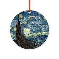Vincent VanGogh Starry Night Porcelain Ornament