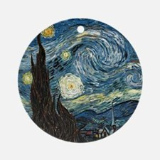 Vincent VanGogh Starry Night Porcelain Ornament