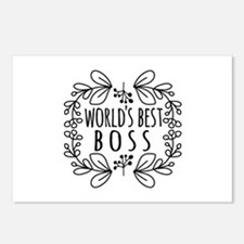 Cute Black World's Best B Postcards (Package of 8)