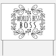 Cute Black World's Best Boss Yard Sign