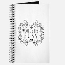 Cute Black World's Best Boss Journal