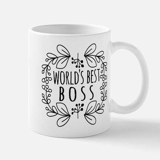 Cute Black World's Best Boss Mug