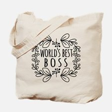 Cute Black World's Best Boss Tote Bag