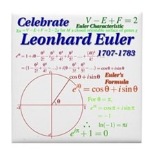 Celebrate Euler Tile Coaster