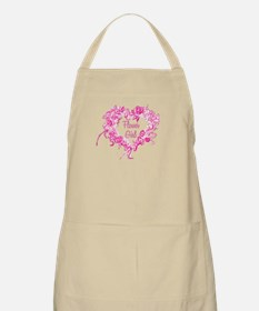 BP Pink Heart Flower Girl BBQ Apron