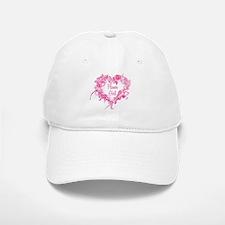 BP Pink Heart Flower Girl Baseball Baseball Cap