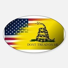 American Flag/Don't tread on Me Decal