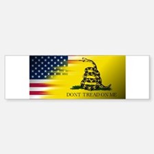 American Flag/Don't tread on Me Bumper Bumper Bumper Sticker