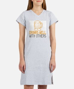 Drinks Well With Others Women's Nightshirt