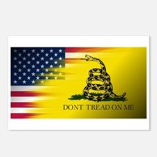 American Flag/Don't tread Postcards (Package of 8)