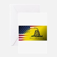 American Flag/Don't tread on Me Greeting Cards