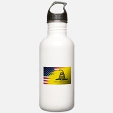 American Flag/Don't tr Water Bottle