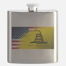 American Flag/Don't tread on Me Flask