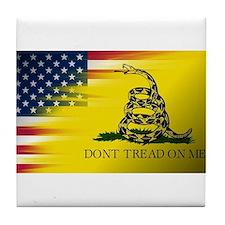 American Flag/Don't tread on Me Tile Coaster