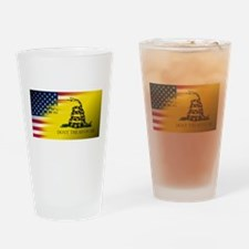 American Flag/Don't tread on Me Drinking Glass