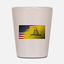American Flag/Don't tread on Me Shot Glass