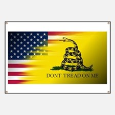 American Flag/Don't tread on Me Banner