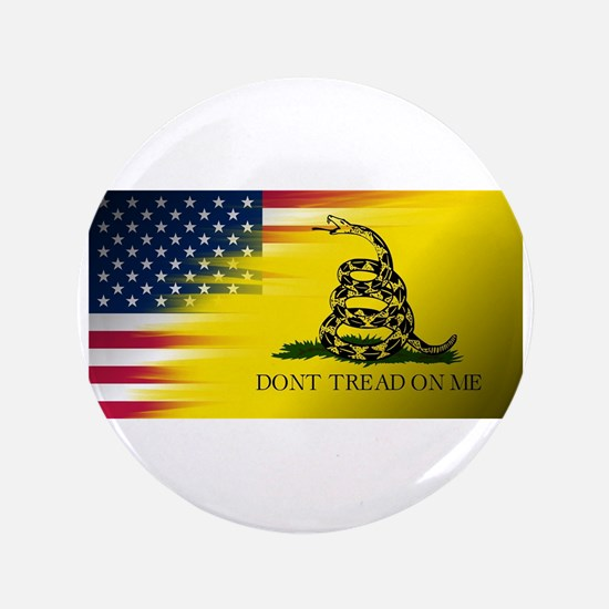 American Flag/Don't tread on Me Button