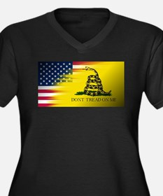 American Flag/Don't tread on Me Plus Size T-Shirt