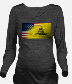 American Flag/Don't Long Sleeve Maternity T-Shirt