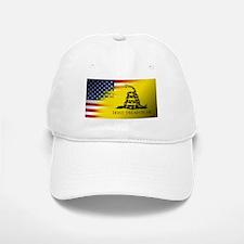 American Flag/Don't tread on Me Baseball Baseball Cap
