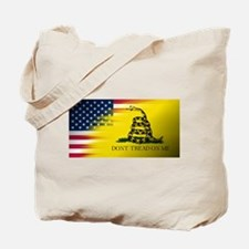 American Flag/Don't tread on Me Tote Bag
