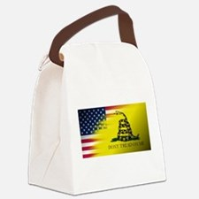 American Flag/Don't tread on Me Canvas Lunch Bag