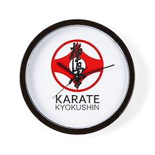 Kyokushin Karate Symbol and Kanji Wall Clock
