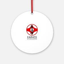 Kyokushin Karate Symbol and Kanji Ornament (Round)