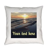 Custom beach Woven Pillows