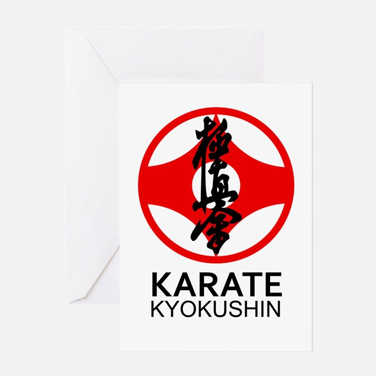Kyokushin Karate Symbol and Kanji Greeting Cards